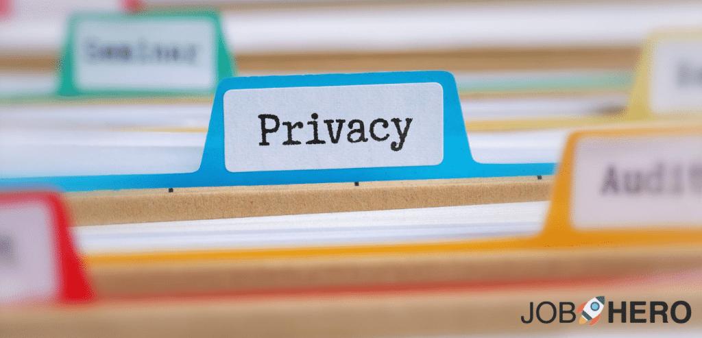 curriculum efficace, privacy curriculum